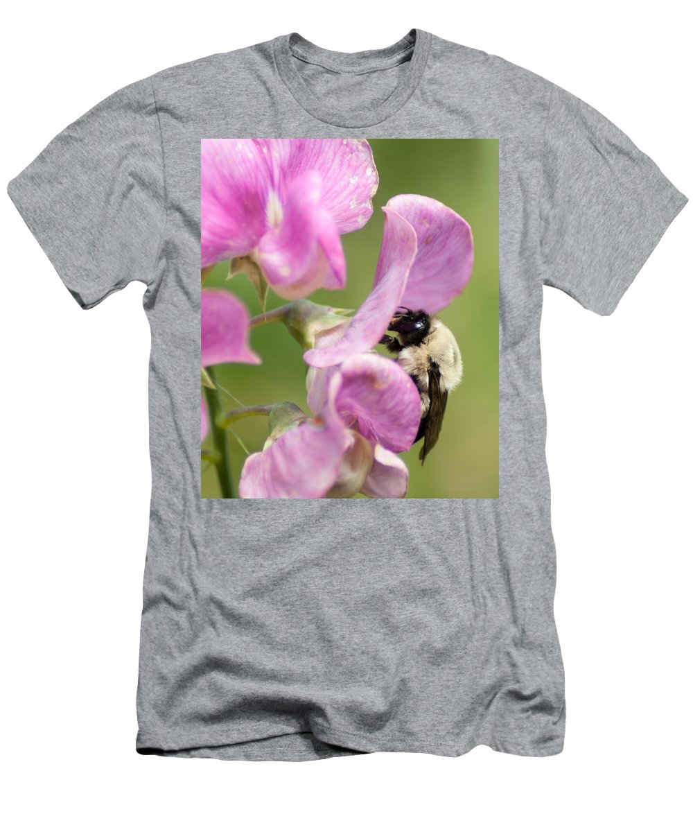 Optical Playground By Mp Ray Men's T-Shirt (Athletic Fit) featuring the photograph Pollination Nation X by Optical Playground By MP Ray