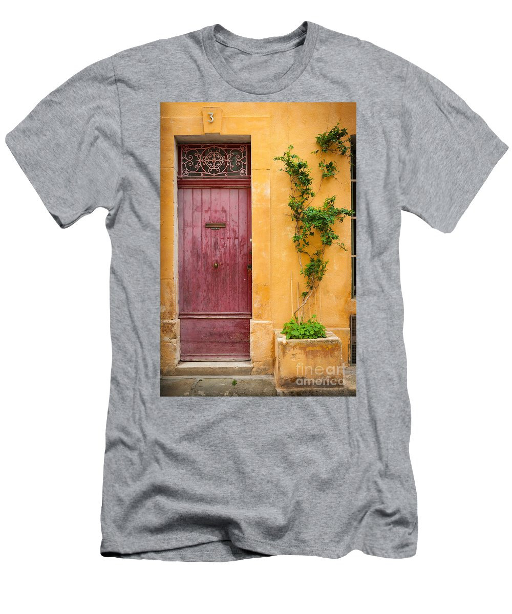 Arles T-Shirt featuring the photograph Porte Rouge by Inge Johnsson
