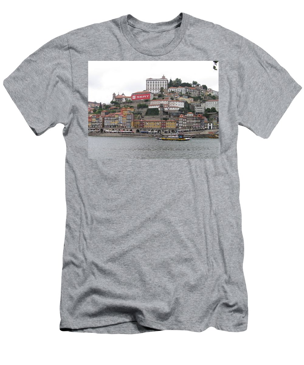 River Scence Men's T-Shirt (Athletic Fit) featuring the photograph Portugal by Kimberly Maxwell Grantier