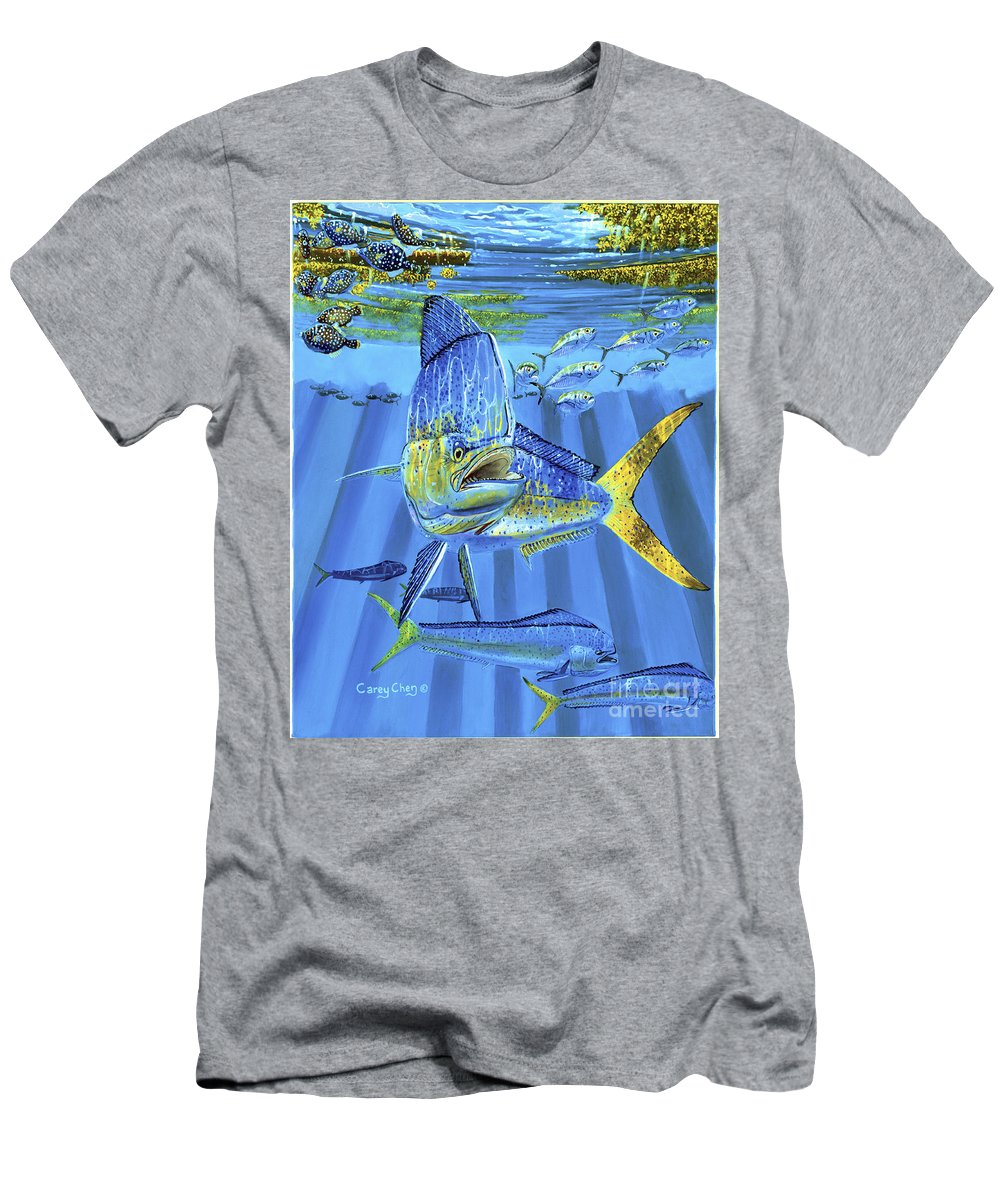 Dolphin T-Shirt featuring the painting Predator Off0067 by Carey Chen