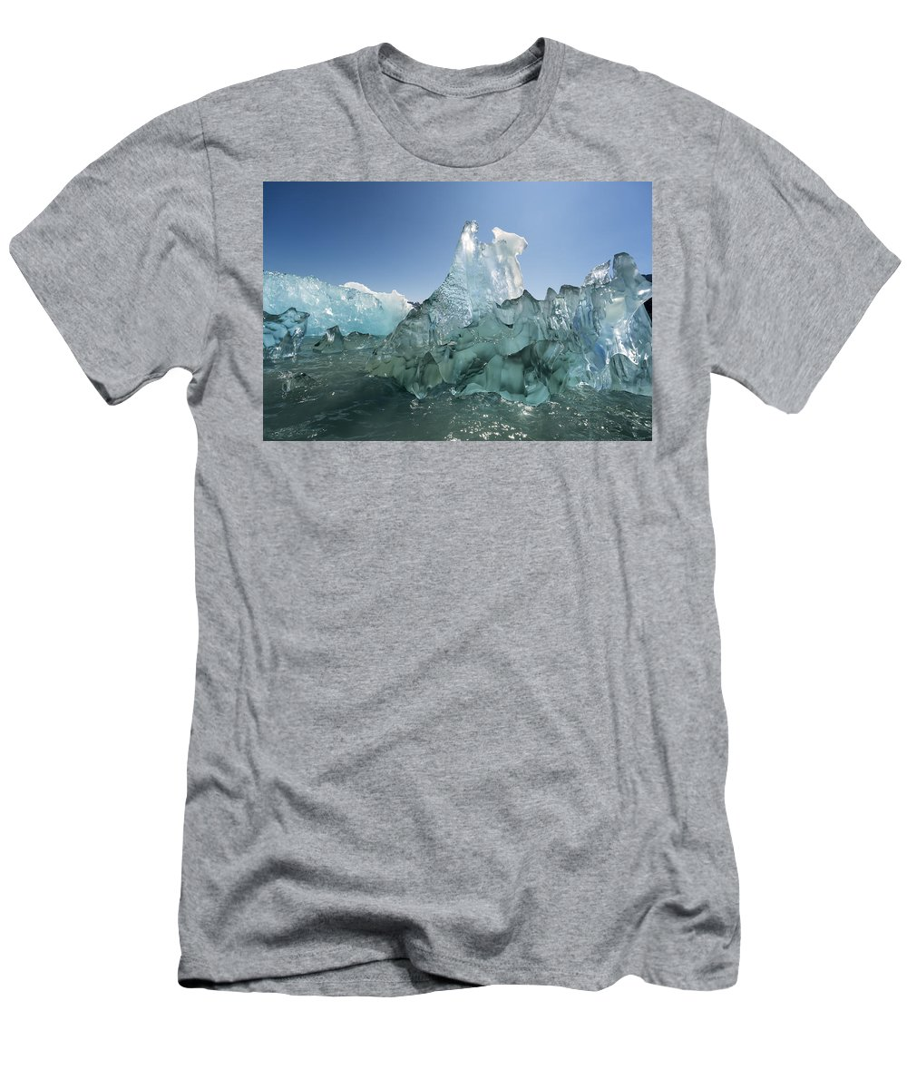 Ice Men's T-Shirt (Athletic Fit) featuring the photograph Prism by Ted Raynor