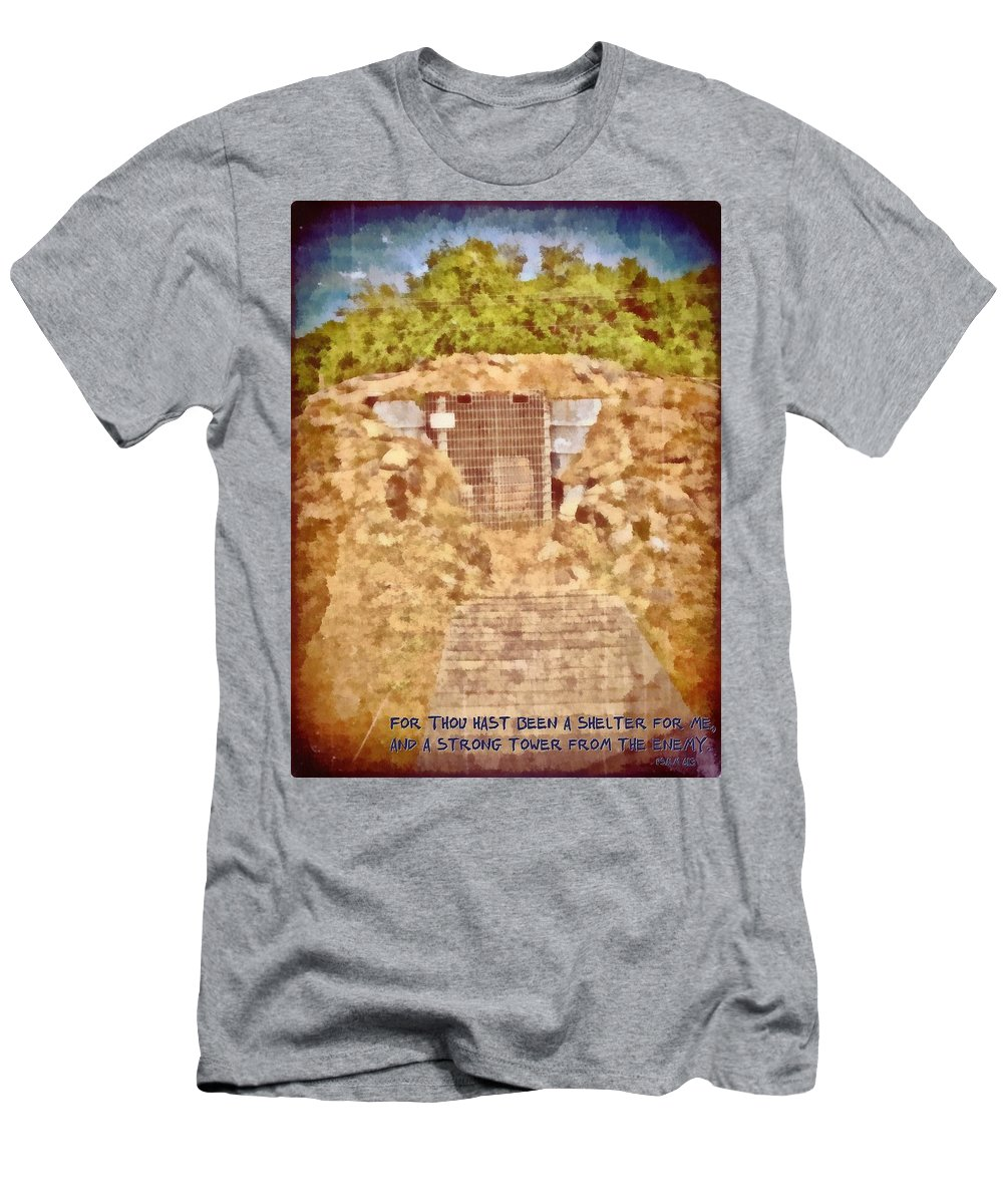 Jesus Men's T-Shirt (Athletic Fit) featuring the digital art Psalm 61 3 by Michelle Greene Wheeler