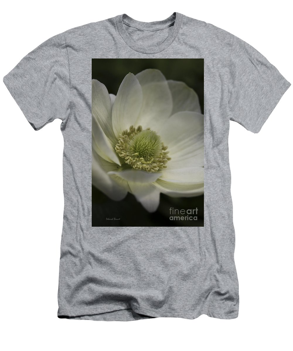 Flower T-Shirt featuring the photograph Pureness In White by Deborah Benoit