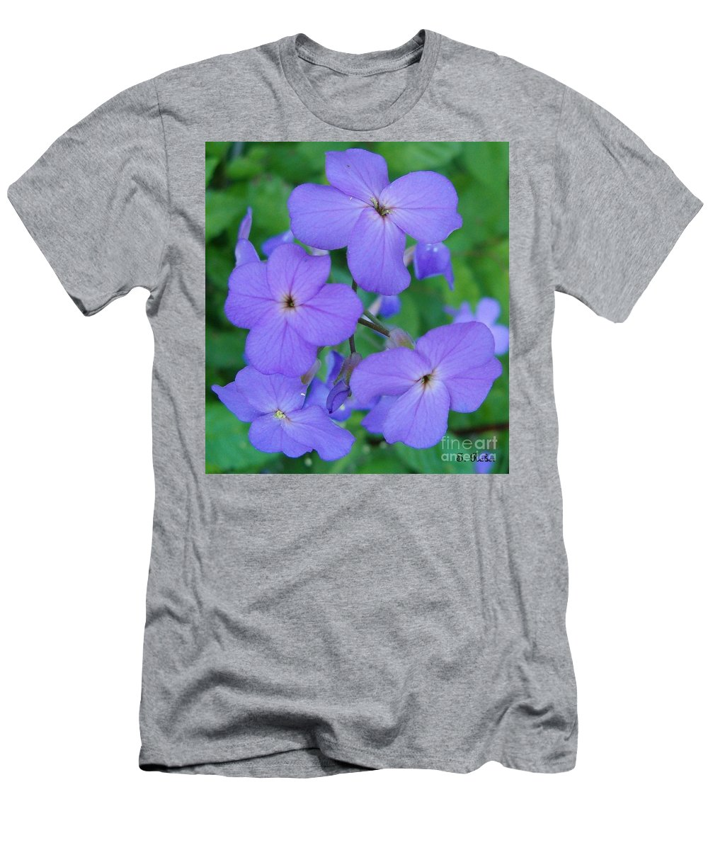 Flowers Men's T-Shirt (Athletic Fit) featuring the photograph Purple Passion by Sara Raber
