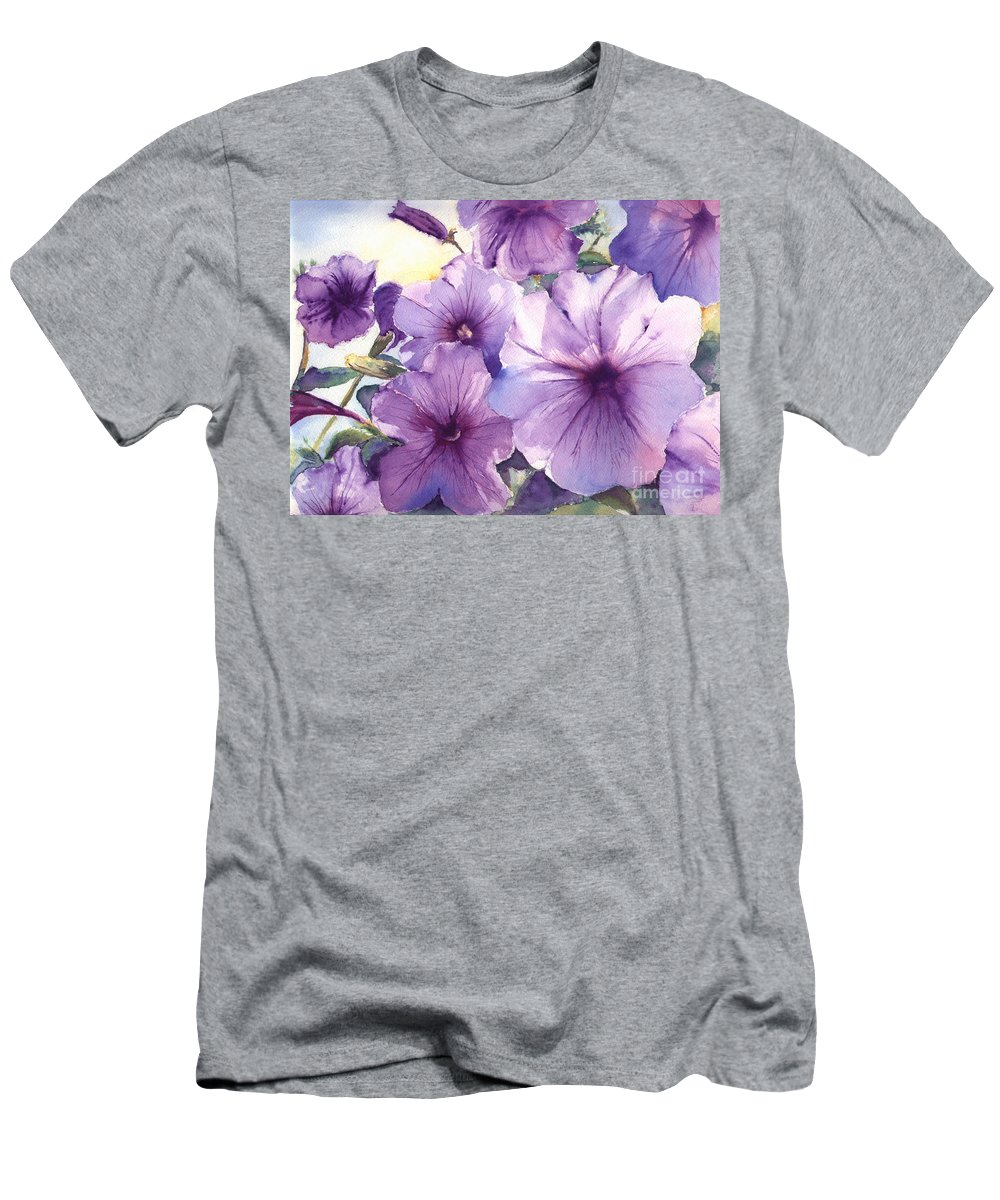 Purple Men's T-Shirt (Athletic Fit) featuring the painting Purple Profusion by Patricia Henderson