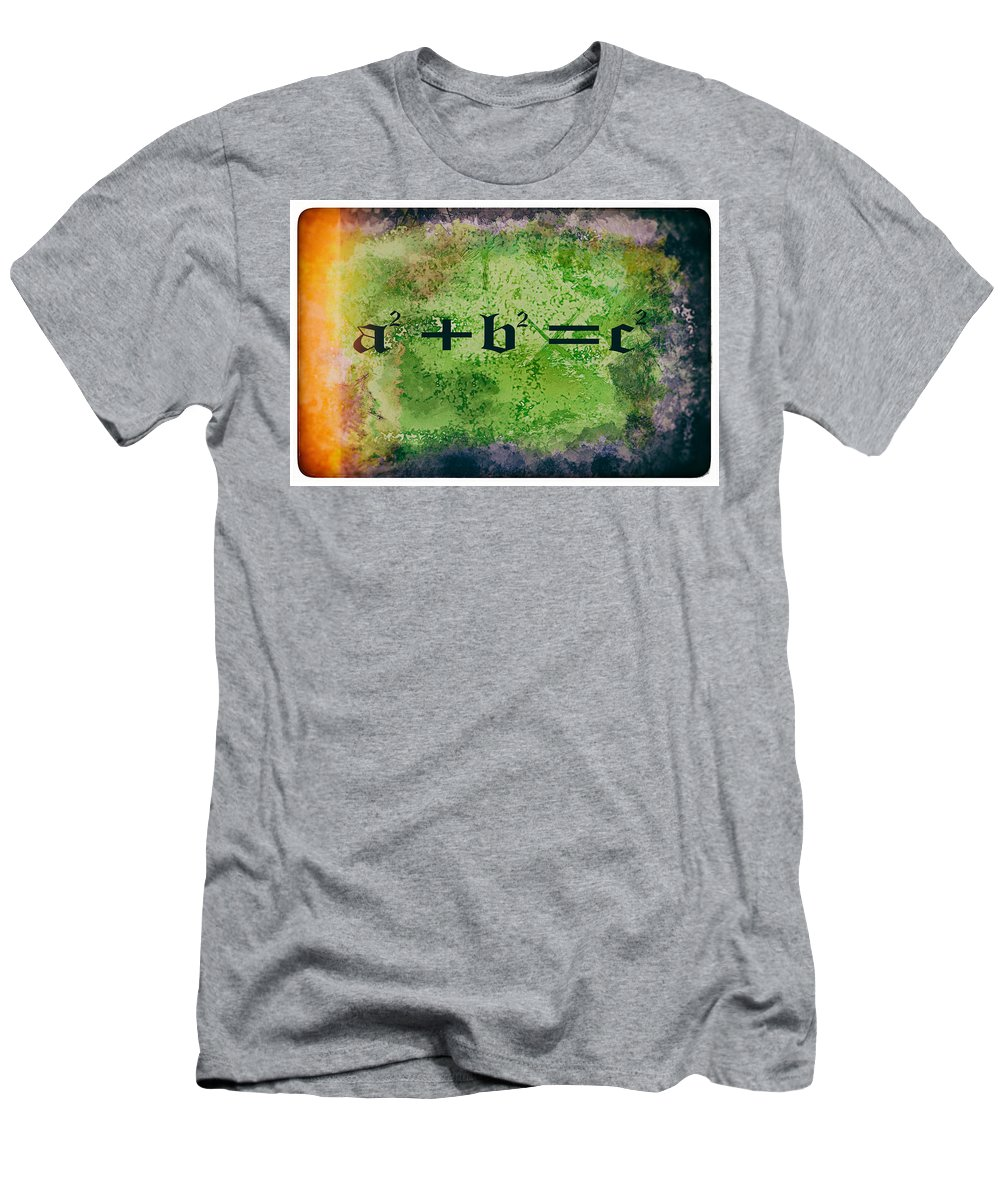 Pythagorean Men's T-Shirt (Athletic Fit) featuring the photograph Pythagorean Theorem by Eti Reid