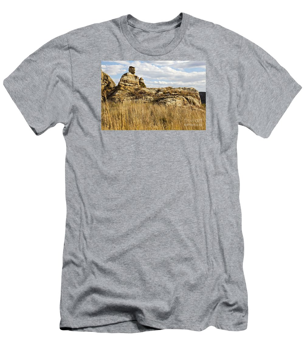 Queen Of Isalo Men's T-Shirt (Athletic Fit) featuring the photograph Queen Of Isalo Madagascar by Liz Leyden