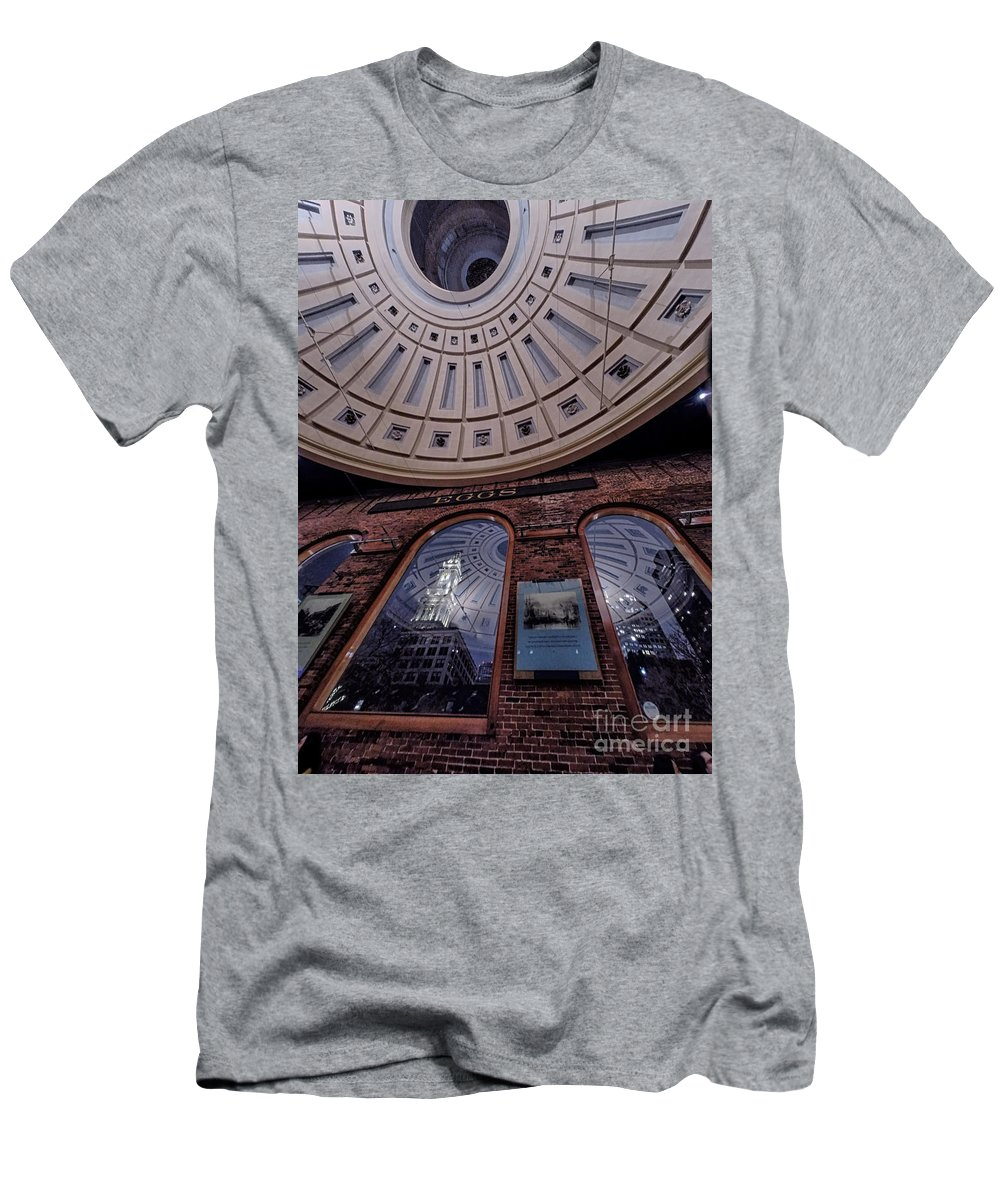 Quincy Marketplace Men's T-Shirt (Athletic Fit) featuring the photograph Quincy Market by Scott Thorp