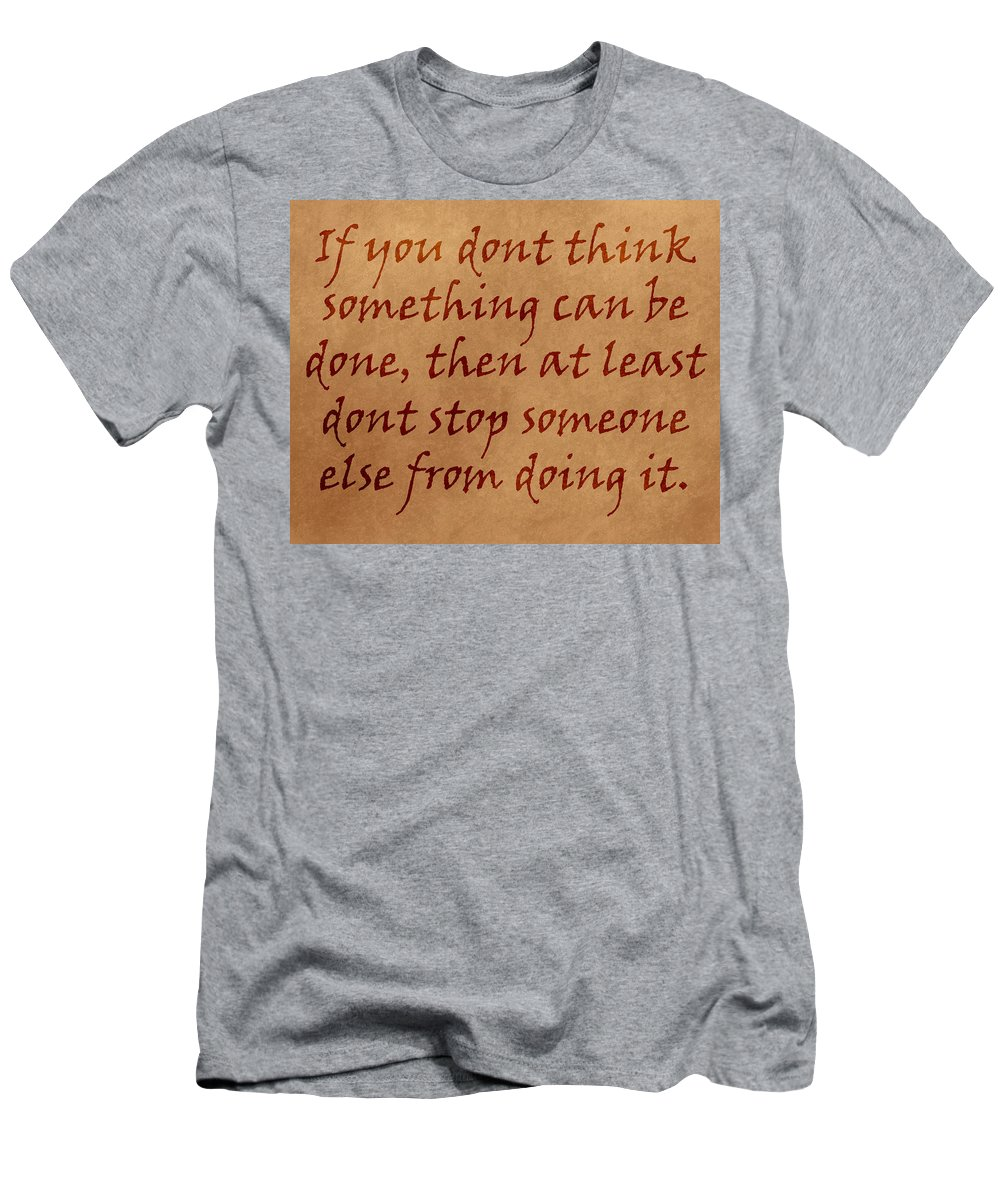 Sign Men's T-Shirt (Athletic Fit) featuring the photograph Quote by Paul Fell