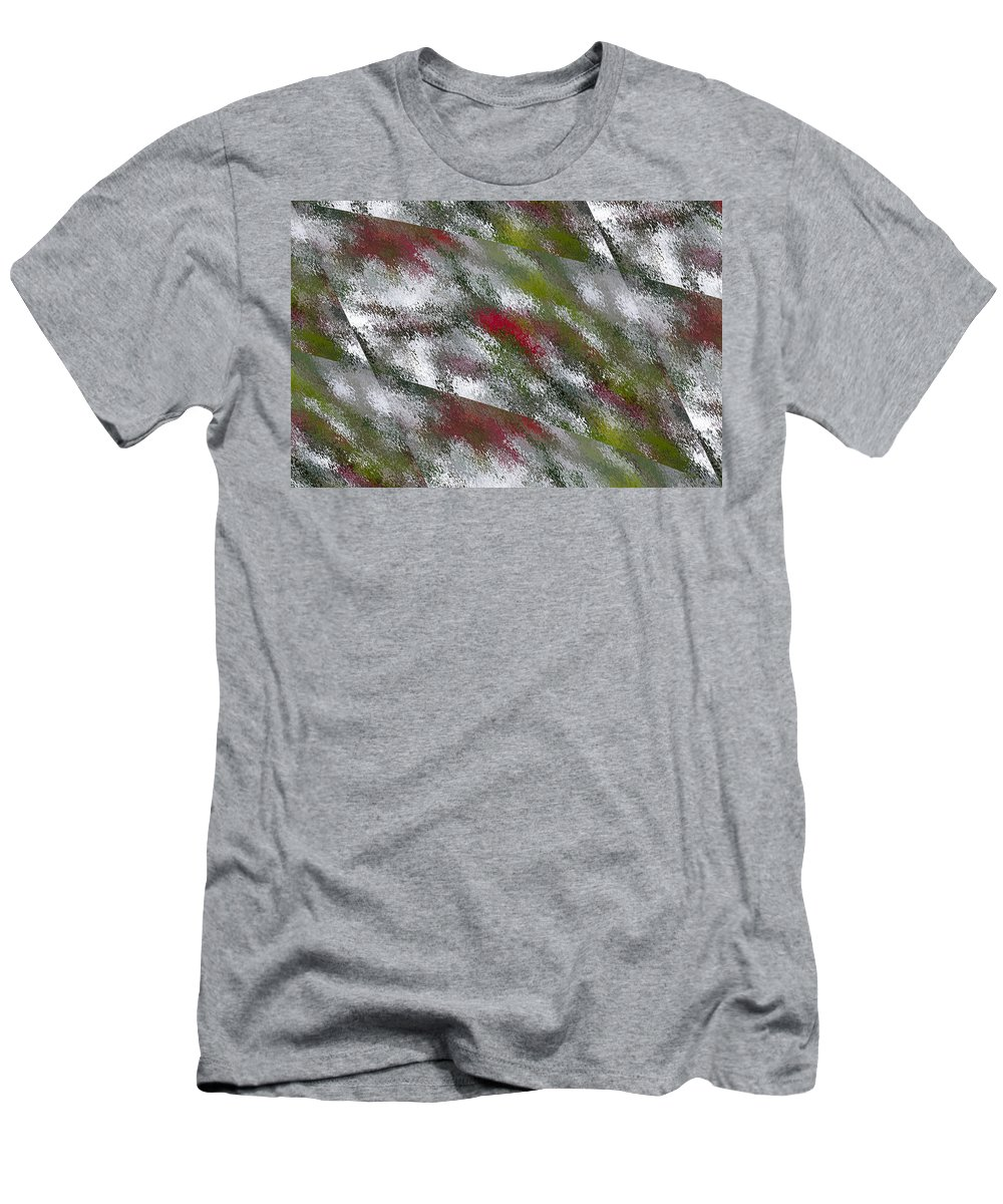 Rain Men's T-Shirt (Athletic Fit) featuring the digital art Rainy Day In Clear by Angela Stanton