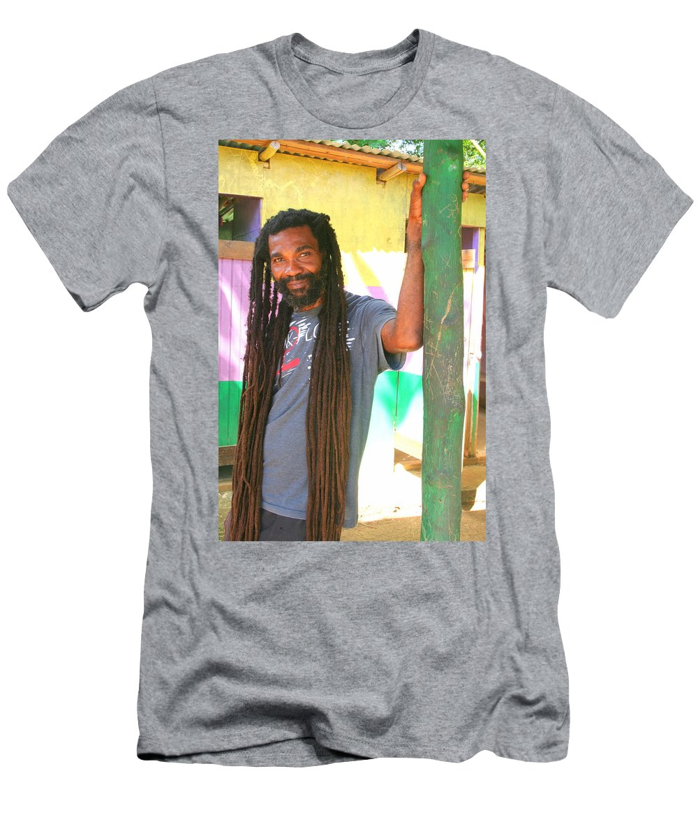 Rasta Men's T-Shirt (Athletic Fit) featuring the photograph Rasta Man by Laurel Talabere