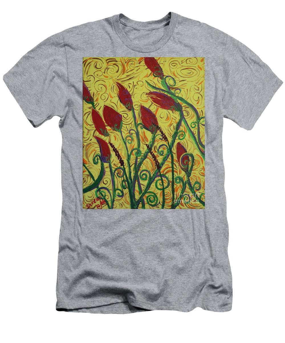 Squigglism Men's T-Shirt (Athletic Fit) featuring the painting Ready To Bloom by Stefan Duncan