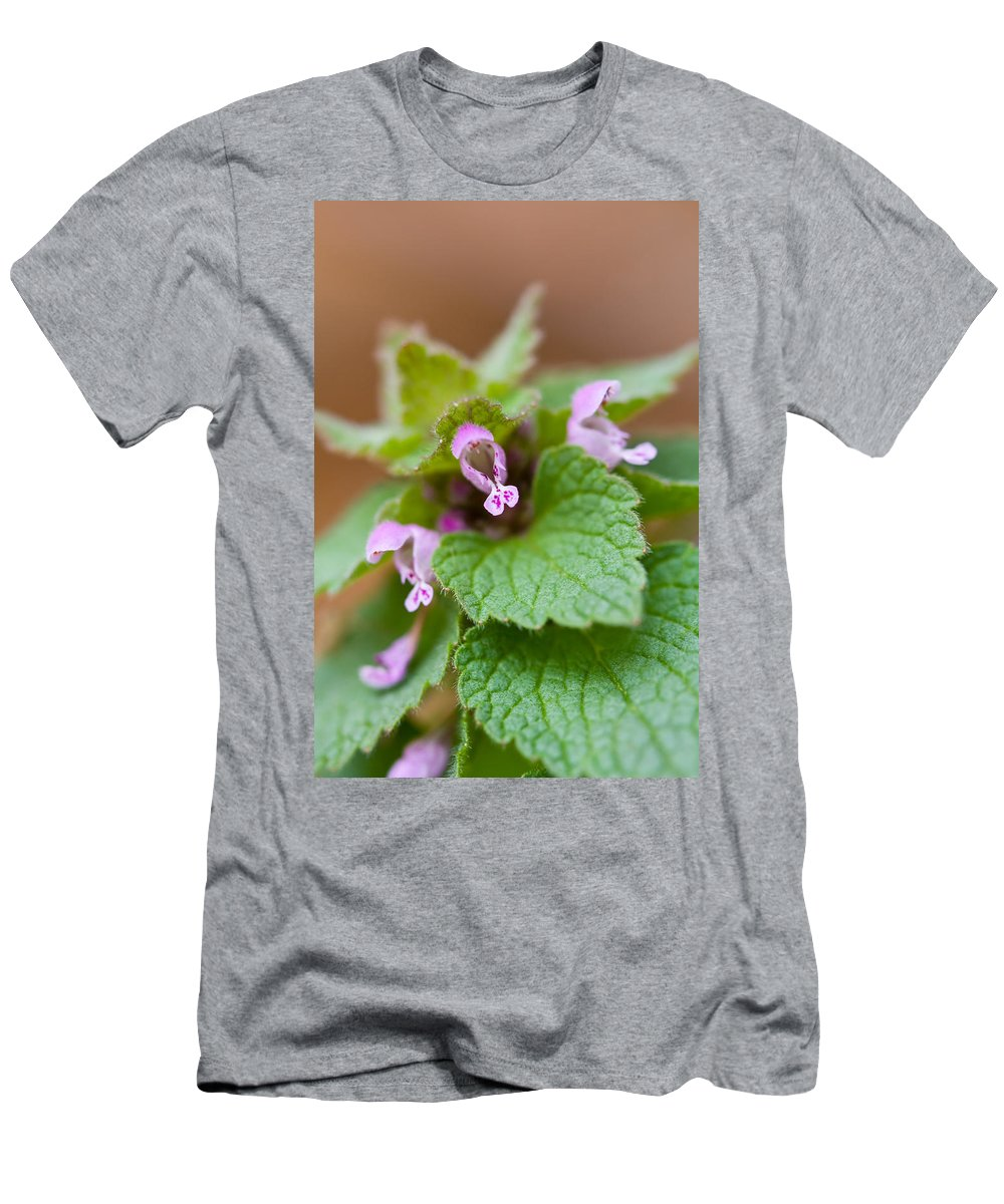 Weed Men's T-Shirt (Athletic Fit) featuring the photograph Red Deadnettle by Melinda Fawver
