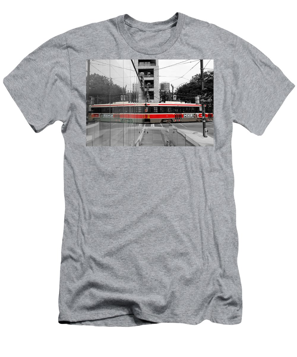 Streetcar Men's T-Shirt (Athletic Fit) featuring the photograph Red Rocket 37c by Andrew Fare