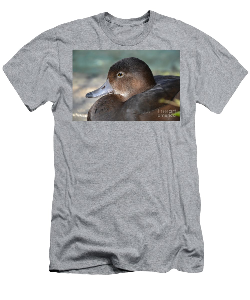 Redhead Duck Men's T-Shirt (Athletic Fit) featuring the photograph Redhead Duck by Robert Meanor