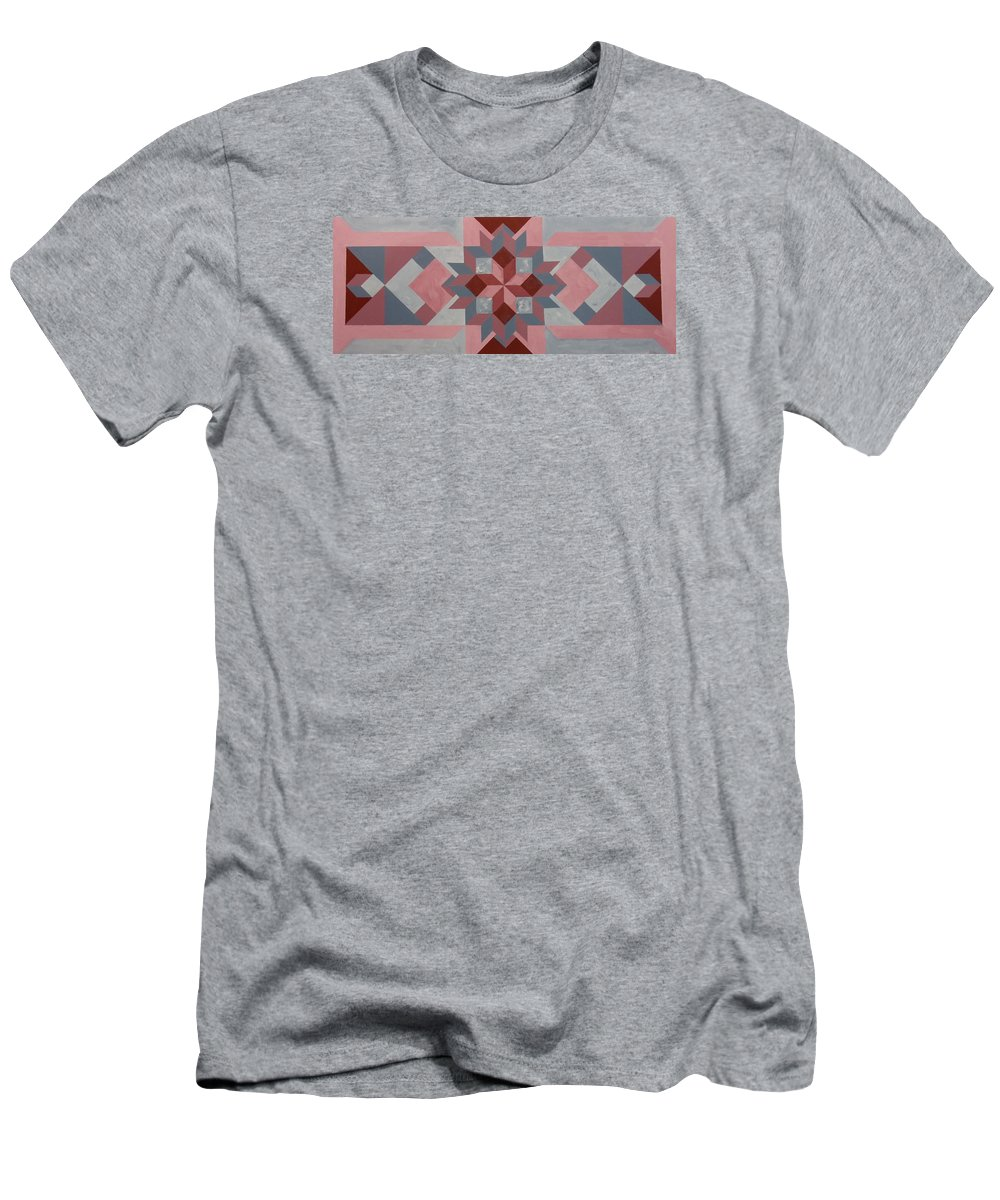 Quilt Men's T-Shirt (Athletic Fit) featuring the painting Grinding Maize by Michael Dillon