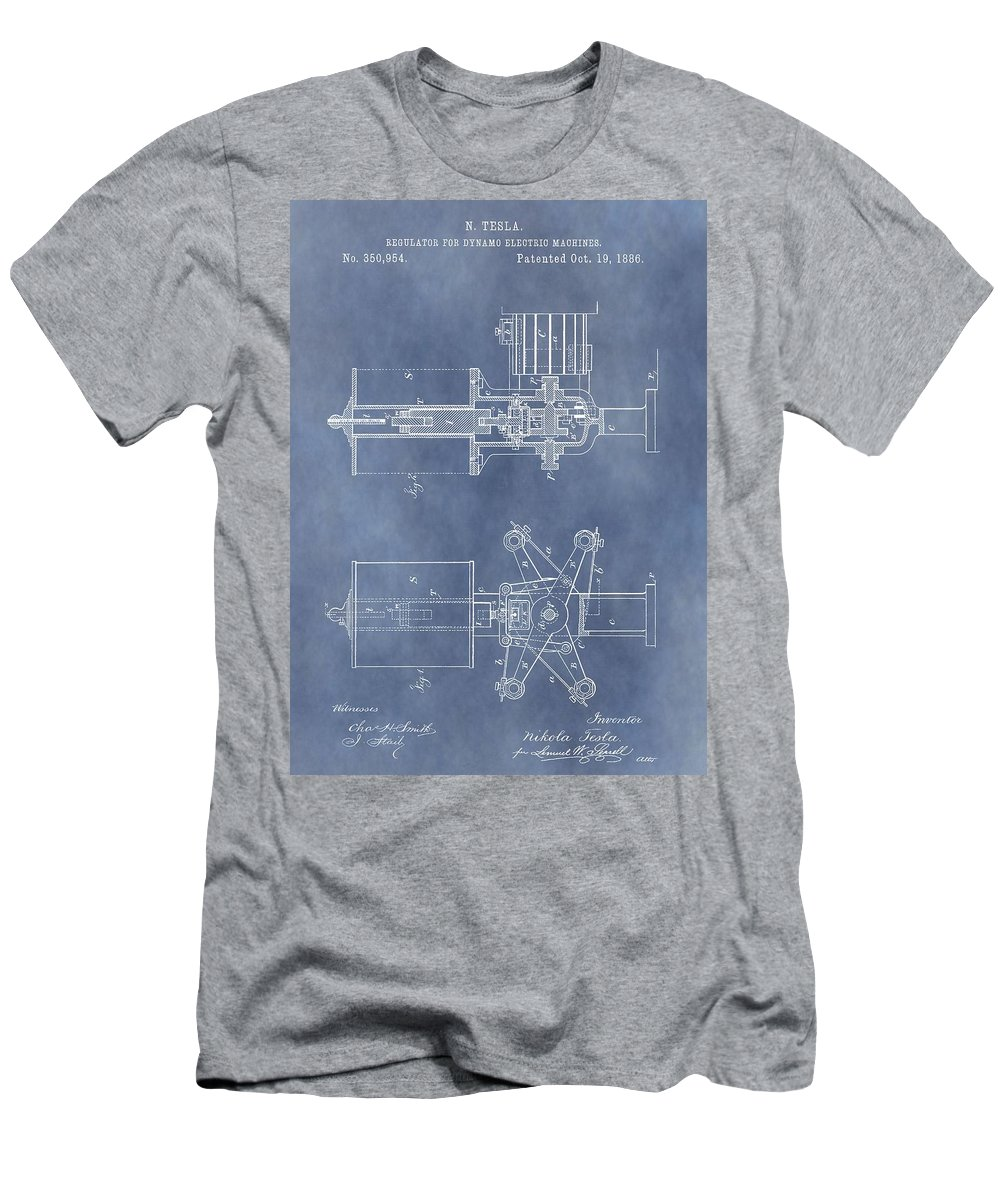 Regulator For Dynamo Electric Machine Patent Men's T-Shirt (Athletic Fit) featuring the drawing Regulator For Dynamo Electric Machine Patent by Dan Sproul