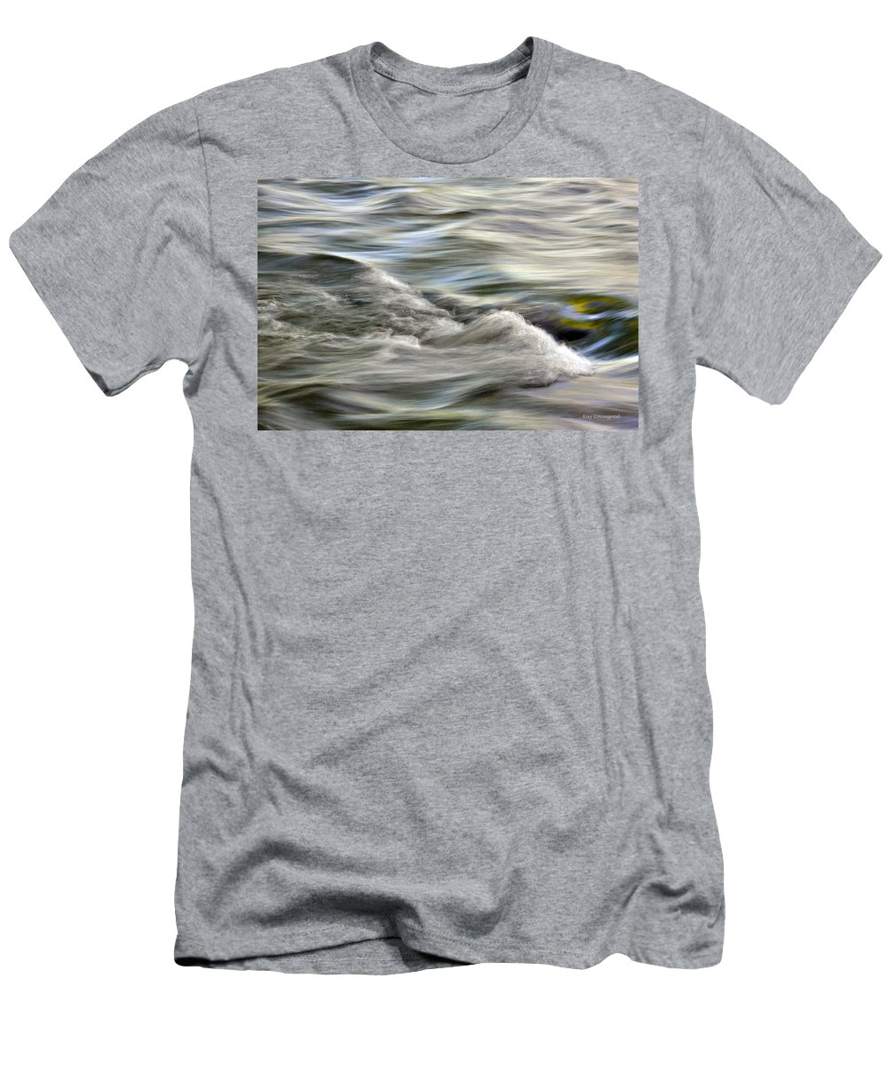 Nature Men's T-Shirt (Athletic Fit) featuring the photograph Rippling Water by Kay Lovingood