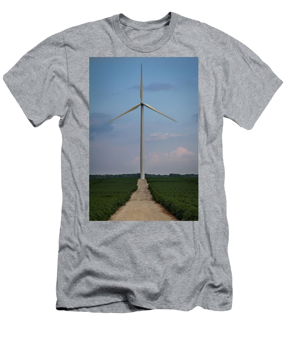 Alternative Energy Men's T-Shirt (Athletic Fit) featuring the photograph Road To The Windmill by Ron Pate