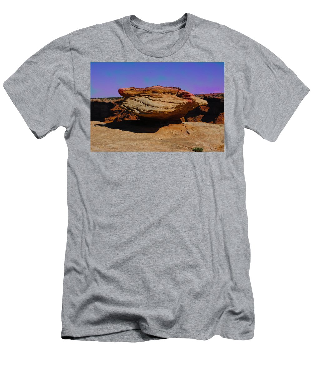 Aged Men's T-Shirt (Athletic Fit) featuring the photograph Rock Formation In Canyon De Chelly by Dany Lison