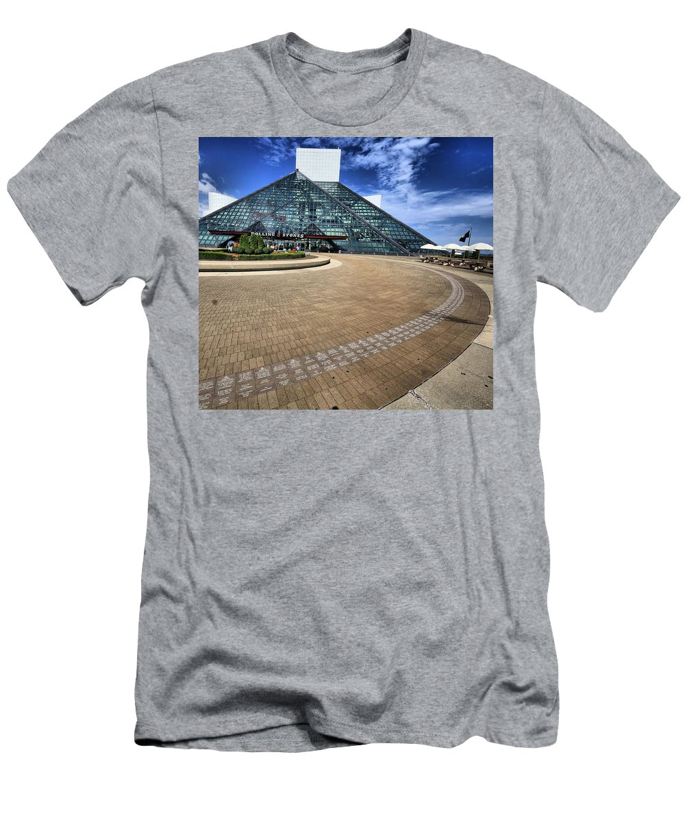 Architectural Art Men's T-Shirt (Athletic Fit) featuring the photograph Rock On 3 by Robert McCubbin