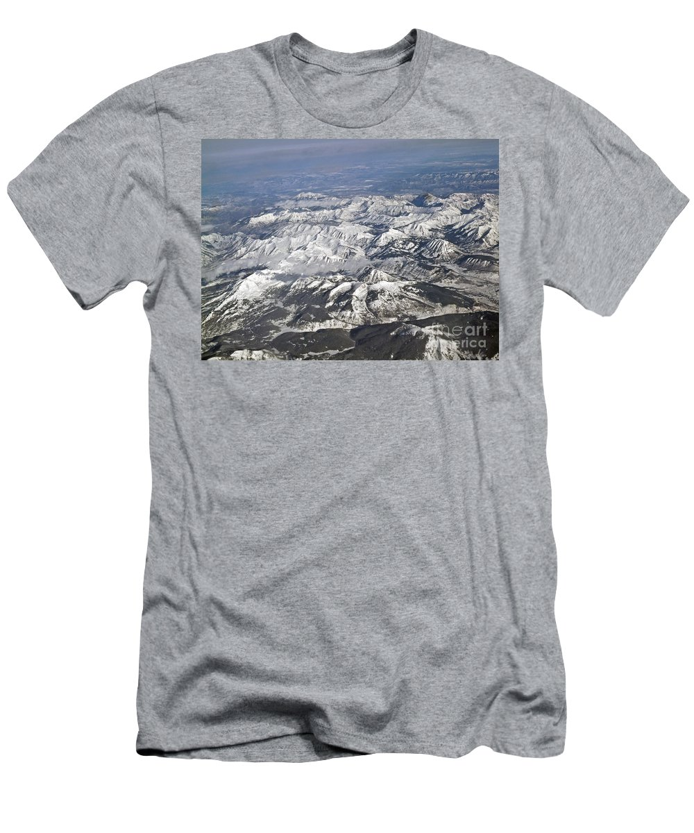 America Men's T-Shirt (Athletic Fit) featuring the photograph Rocky Mountains by Howard Stapleton