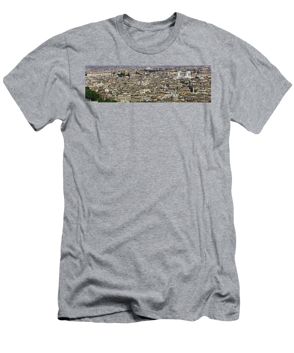 Rome Men's T-Shirt (Athletic Fit) featuring the photograph Rome Panorama by F Icarus