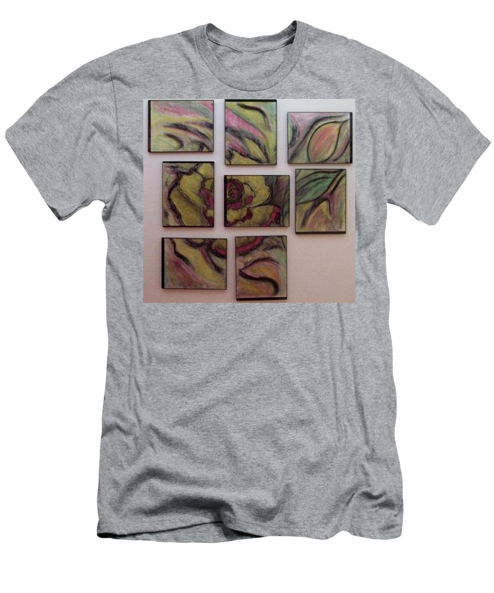 Rose Men's T-Shirt (Athletic Fit) featuring the pastel Rose by Tammi Wetak