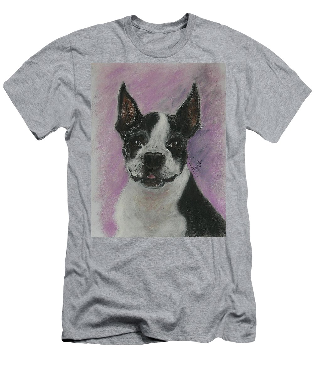 Boston Terrier Men's T-Shirt (Athletic Fit) featuring the drawing Roxy by Cori Solomon