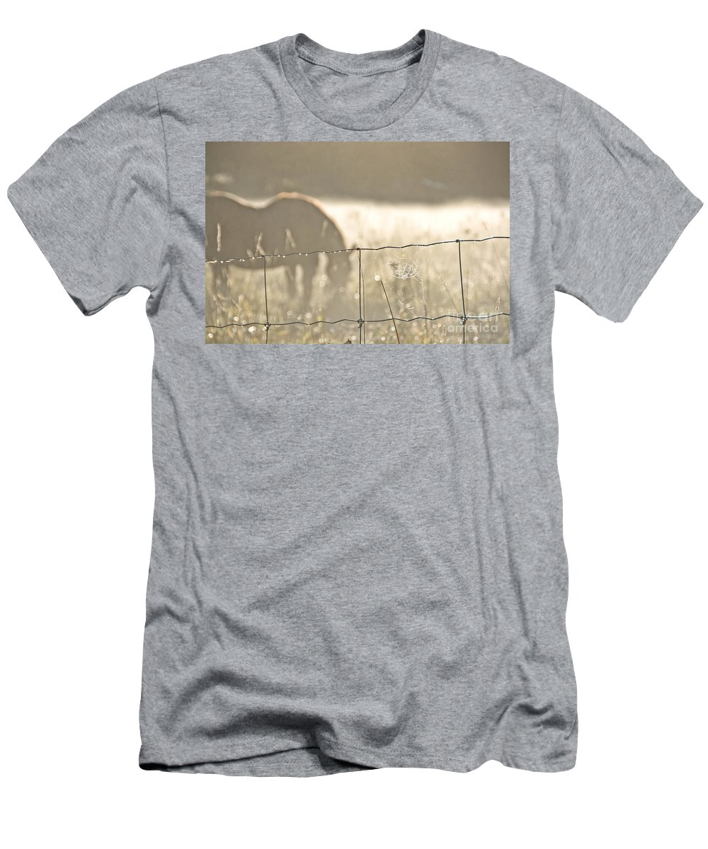 Men's T-Shirt (Athletic Fit) featuring the photograph Rustic Morning by Cheryl Baxter