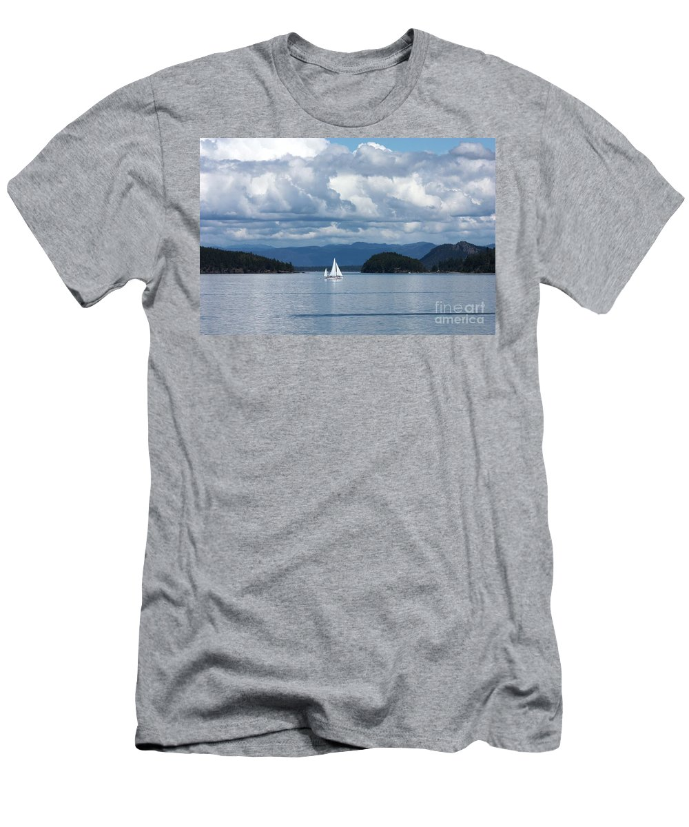 Nautical Men's T-Shirt (Athletic Fit) featuring the photograph Sailing In The San Juans by Carol Groenen