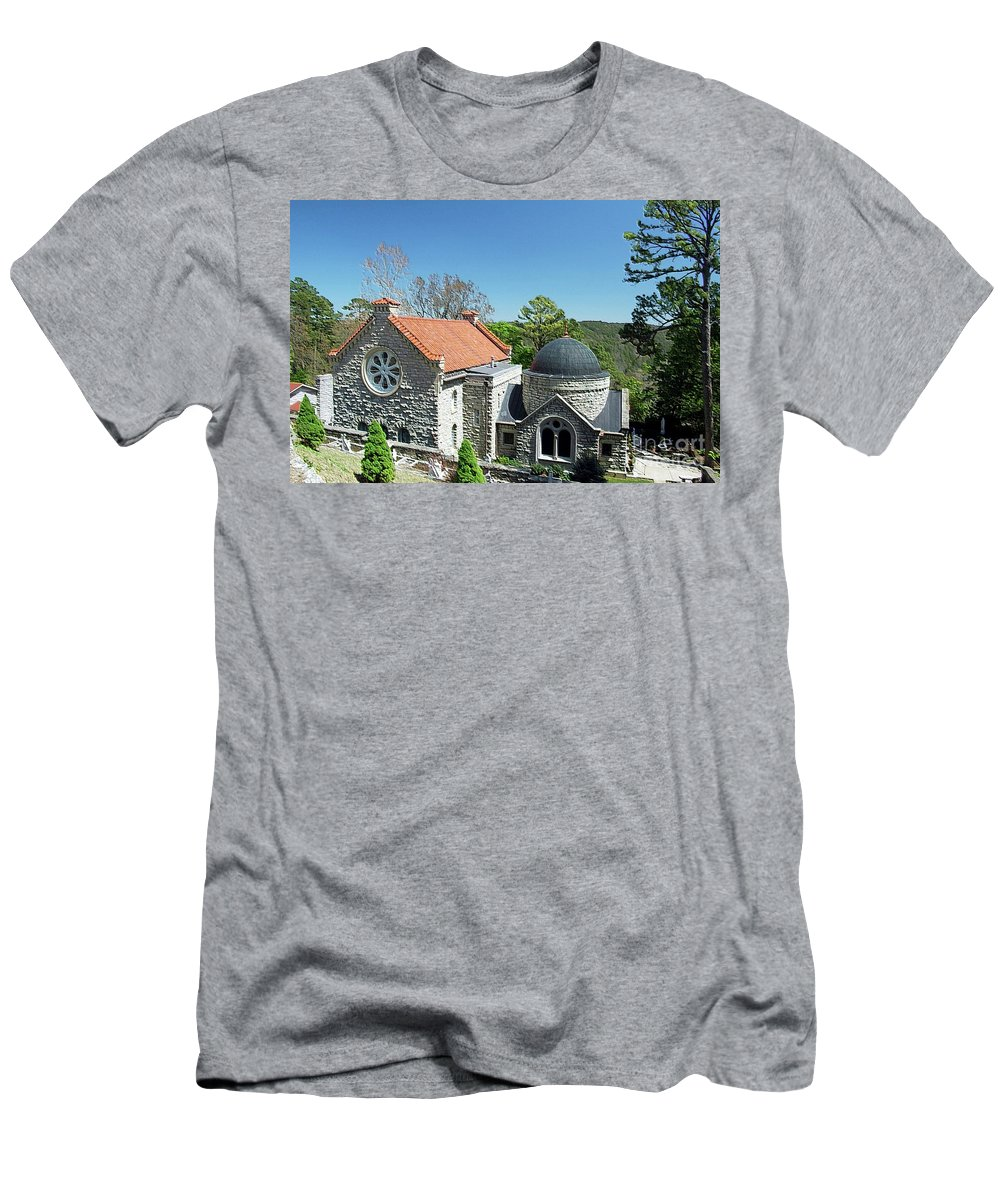 Church Men's T-Shirt (Athletic Fit) featuring the photograph Saint Elizabeth's Church by Kathleen Struckle