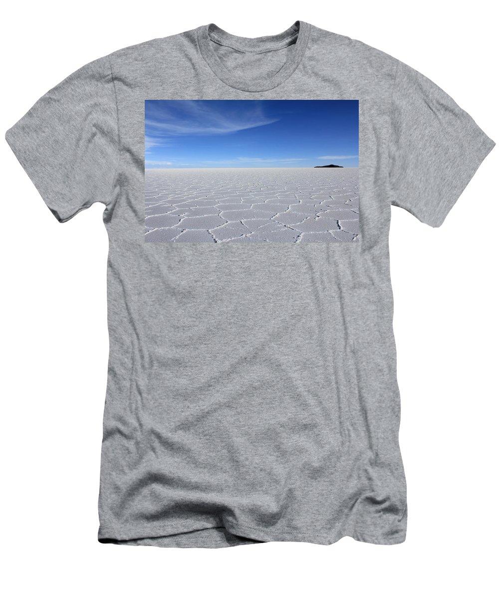 Salar De Uyuni Men's T-Shirt (Athletic Fit) featuring the photograph Salar De Uyuni by Tom Broadhurst
