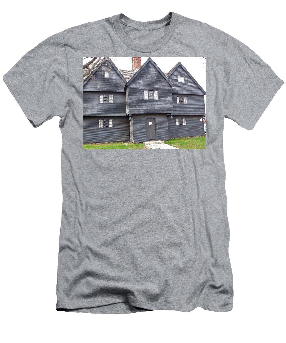 Ancient Building Men's T-Shirt (Athletic Fit) featuring the photograph Salem Witch House by Susan Wyman