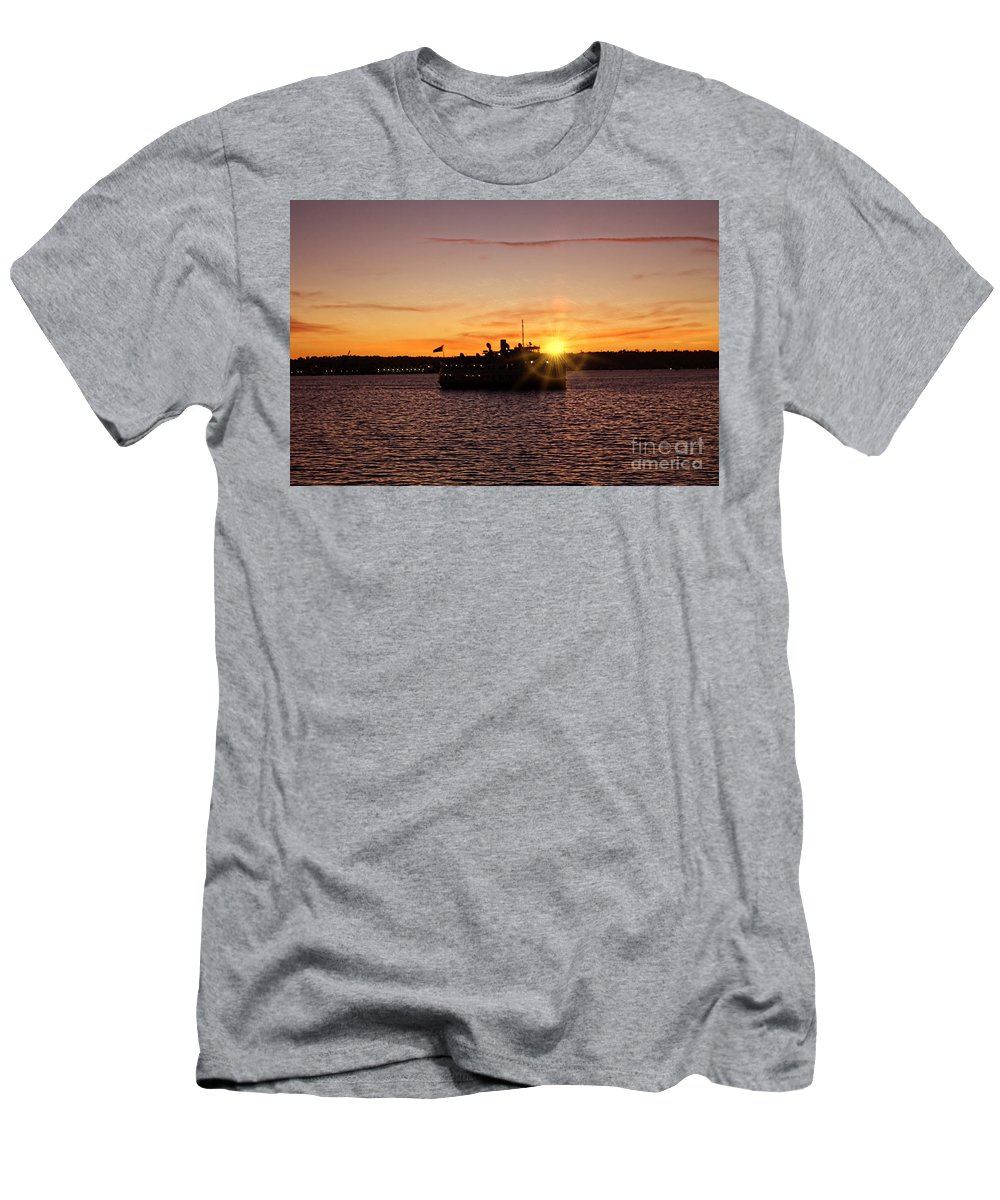 San Diego Men's T-Shirt (Athletic Fit) featuring the photograph San Diego Sunset by Tommy Anderson