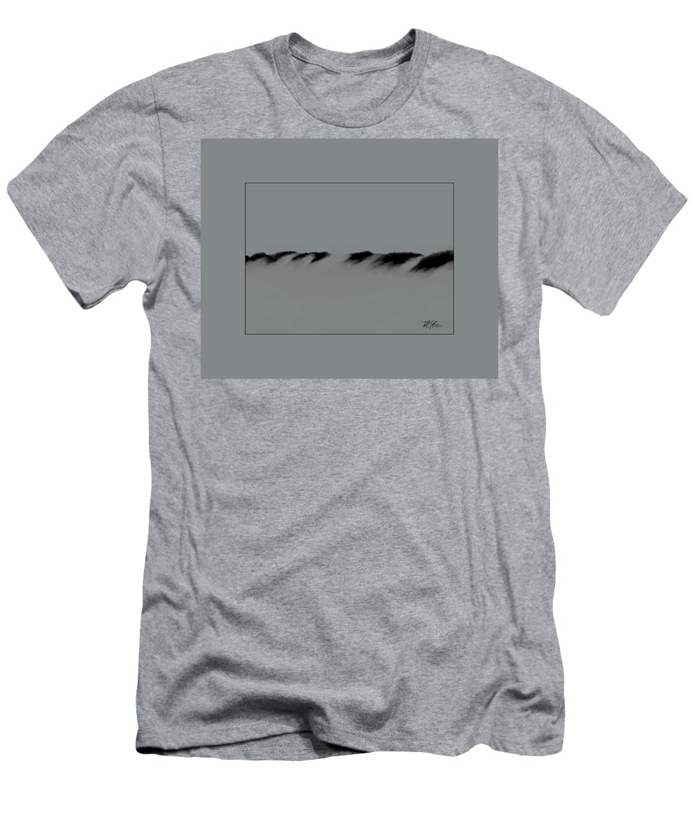 Fineartamerica.com Men's T-Shirt (Athletic Fit) featuring the painting Sand Dunes  9 by Diane Strain