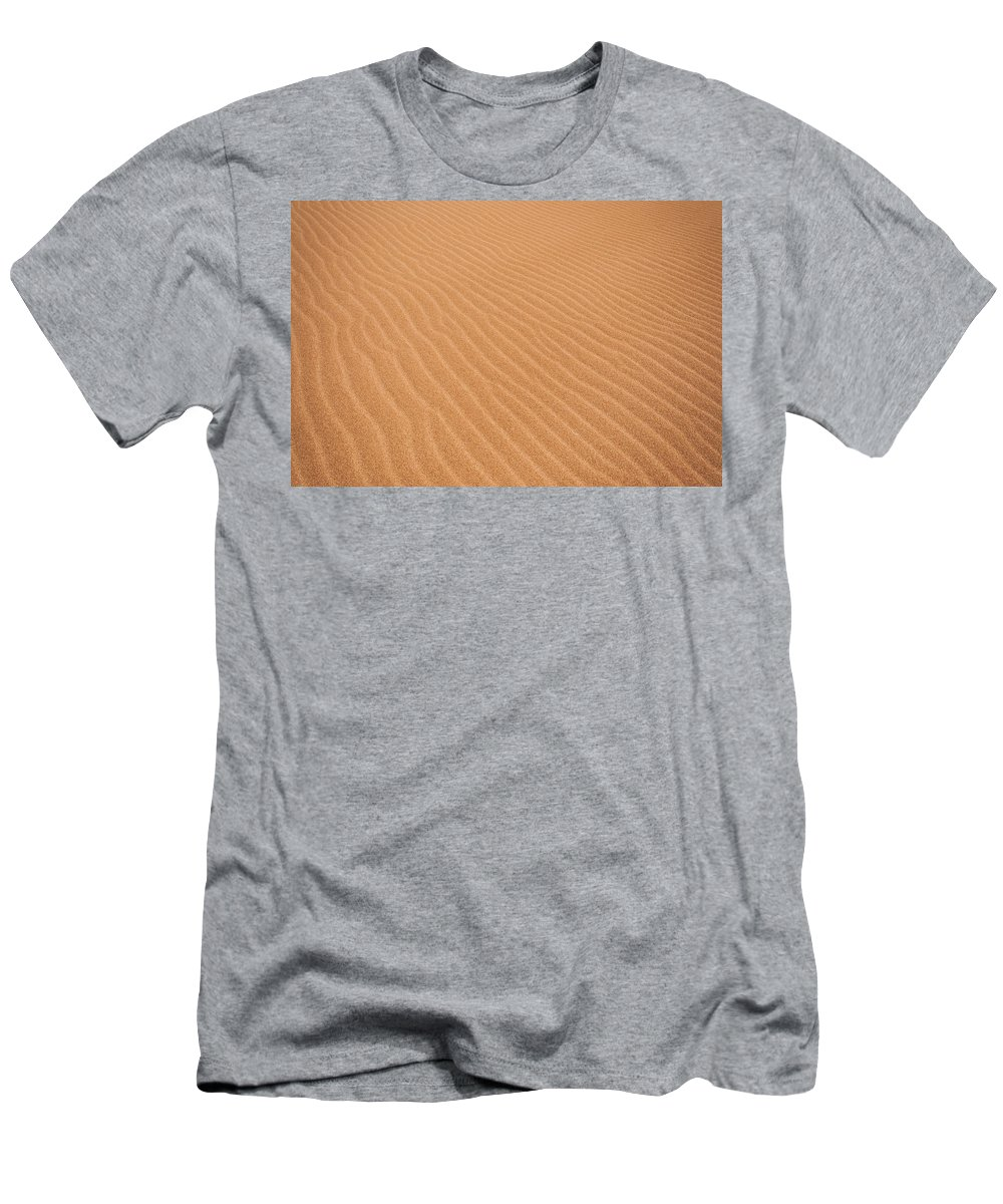 Nature Men's T-Shirt (Athletic Fit) featuring the photograph Sand Ripples by Jess Kraft
