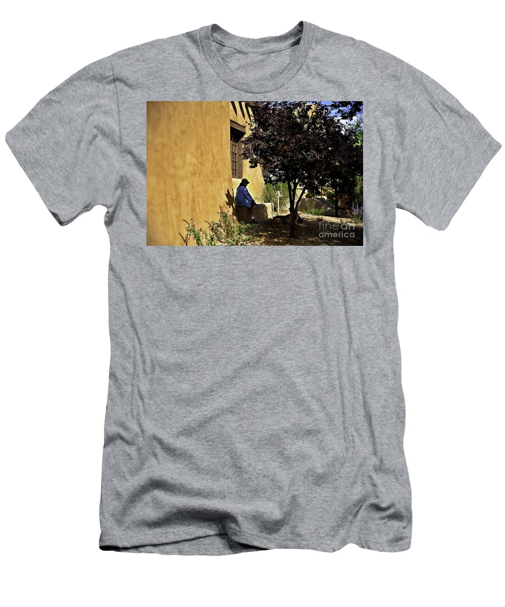 Santa Fe Men's T-Shirt (Athletic Fit) featuring the photograph Santa Fe Afternoon - New Mexico by Madeline Ellis