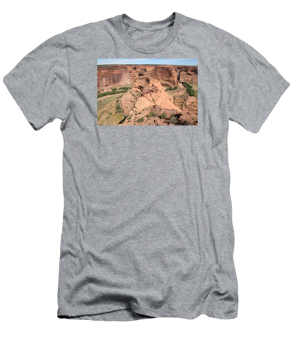 Canyon Men's T-Shirt (Athletic Fit) featuring the photograph Scenic Canyon De Chelly by Christiane Schulze Art And Photography