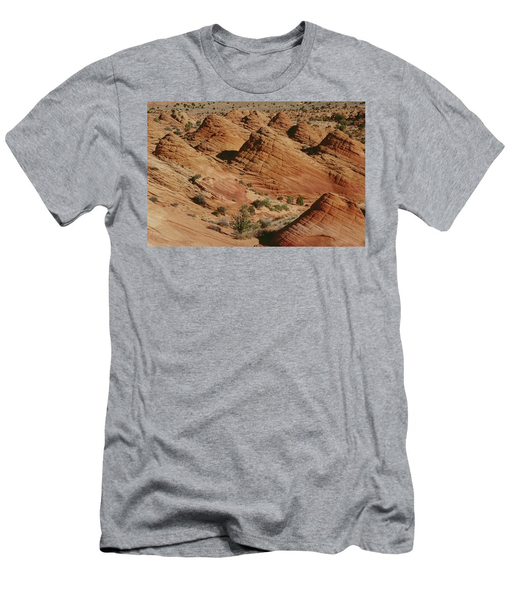 Feb0514 Men's T-Shirt (Athletic Fit) featuring the photograph Sculpted Colorado Sandstone Paria Canyon by Gerry Ellis