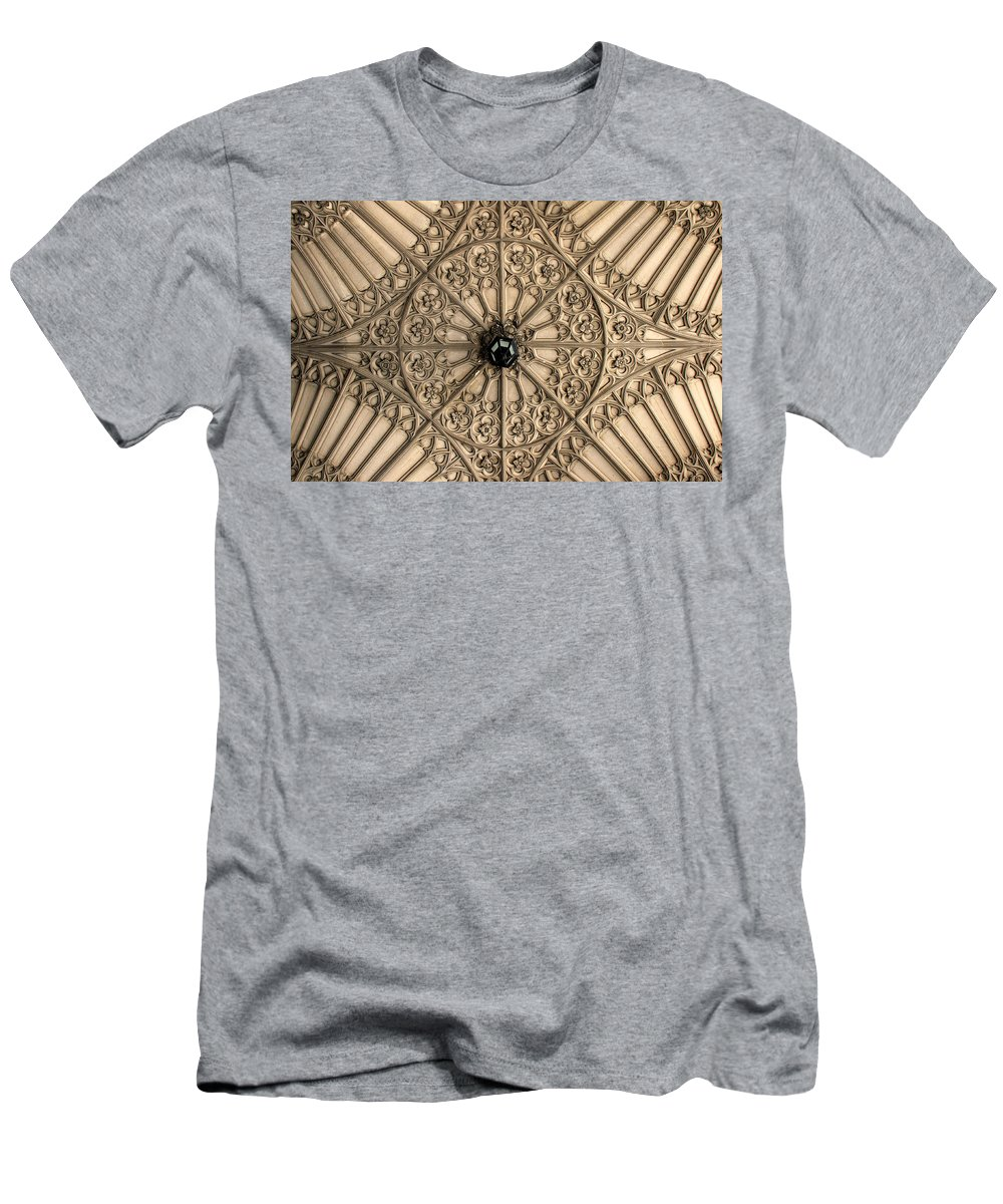Toronto Men's T-Shirt (Athletic Fit) featuring the photograph Sculptured Ceiling 1 by Andrew Fare