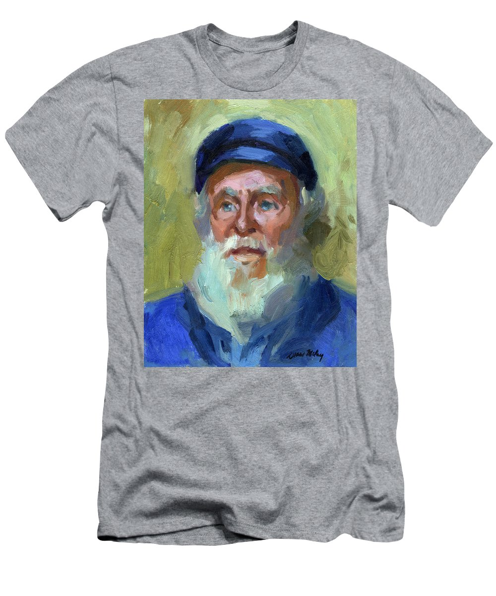 Ship Captain T-Shirt featuring the painting Sea Captain 1 by Diane McClary