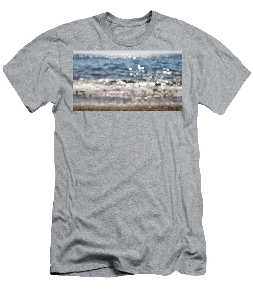 Abstract Men's T-Shirt (Athletic Fit) featuring the photograph Sea Glitter by Stelios Kleanthous