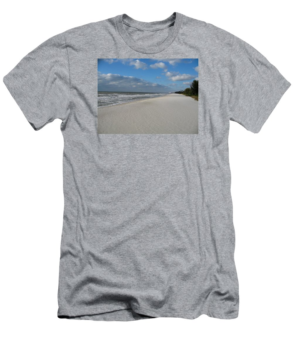 Sea Men's T-Shirt (Athletic Fit) featuring the photograph Sea Horizon by Christiane Schulze Art And Photography