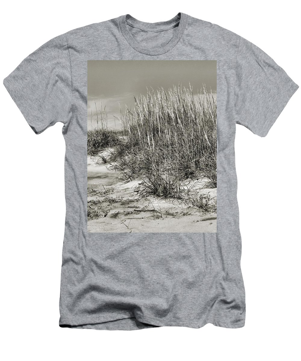 Beach Men's T-Shirt (Athletic Fit) featuring the photograph Sea Oats by John Holfinger