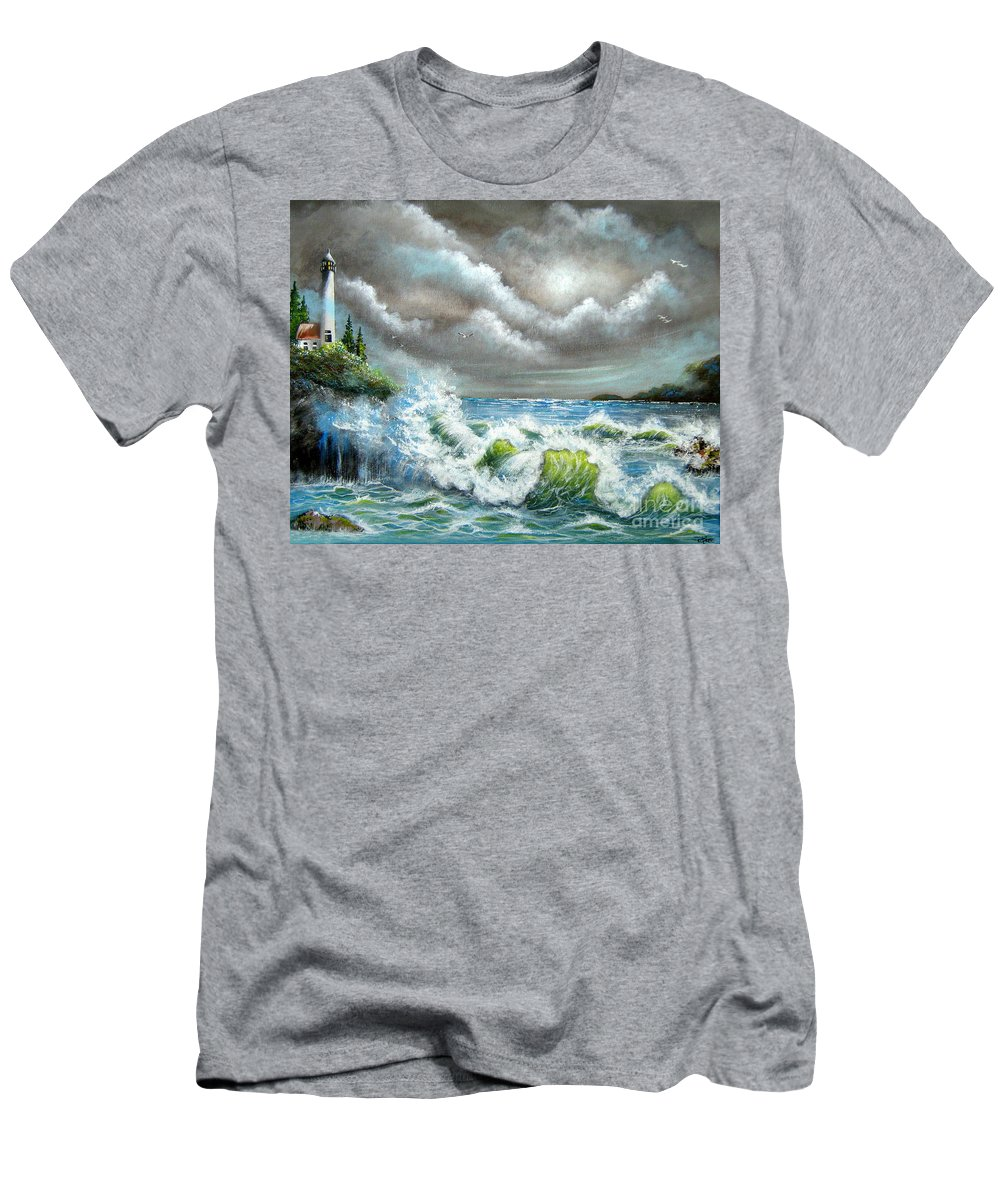 Ocean Men's T-Shirt (Athletic Fit) featuring the painting Sea Of Smiling Faces by Patrice Torrillo