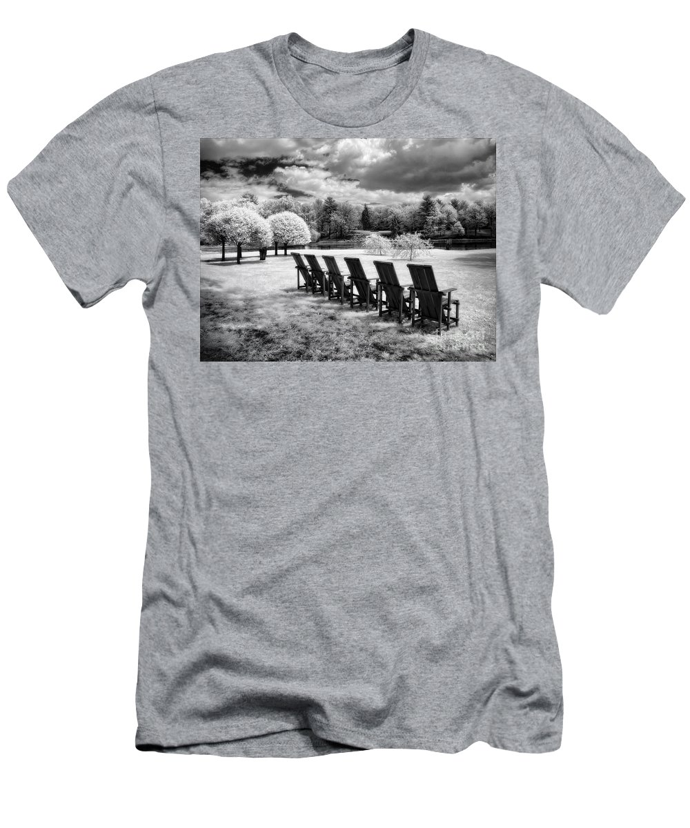 Bw Men's T-Shirt (Athletic Fit) featuring the photograph Seating For Six by Claudia Kuhn