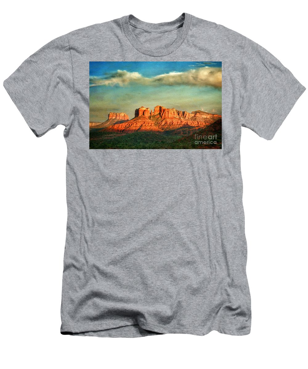 Sedona Men's T-Shirt (Athletic Fit) featuring the photograph Sedona Evening by Claudia Kuhn