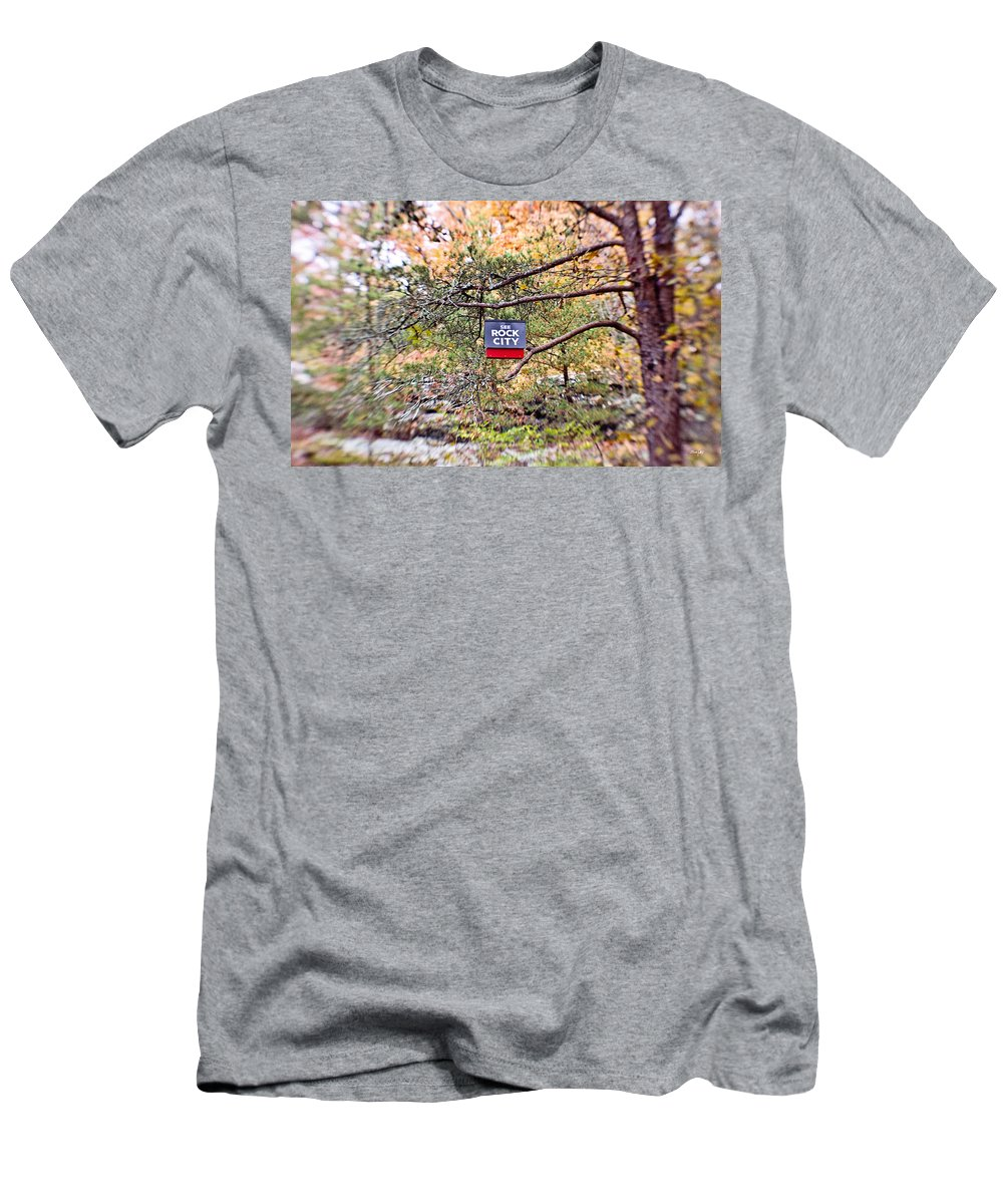 See Rock City Men's T-Shirt (Athletic Fit) featuring the photograph See Rock City by Scott Pellegrin