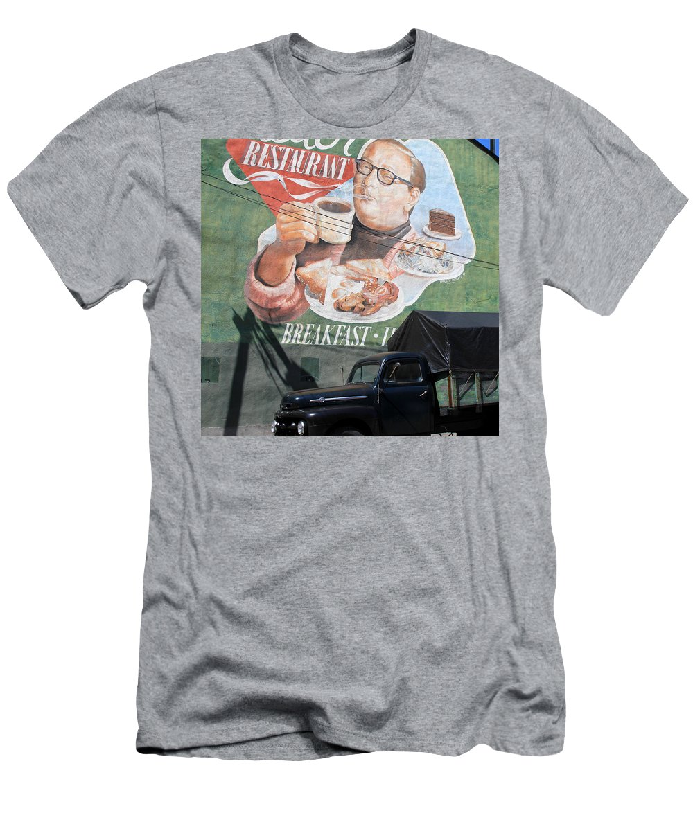 Toronto Men's T-Shirt (Athletic Fit) featuring the photograph Senator Restaurant by Andrew Fare